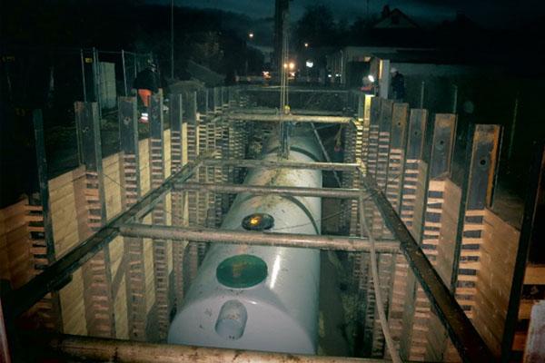 Paviršinių nuotekų tinklų statyba Ukmergės mieste. Lietaus vandens valymo įrenginių 290 ls statyba